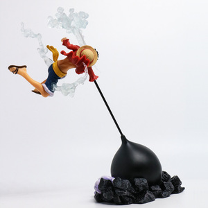 Image 3 - Anime Action Figure ONE PIECE Gear Fourth Scultures Big Monkey D Luffy Battle Fighting Special Color Ver 26cm PVC Toys Doll