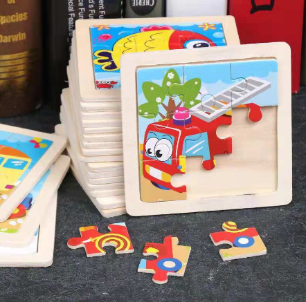 Kids Toy Wood Puzzle Wooden 3D Puzzle Jigsaw For Children Baby Cartoon Animal/Traffic Puzzles Educational Toy