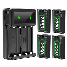 4 шт аккумуляторы и зарядное устройство usb для контроллеров