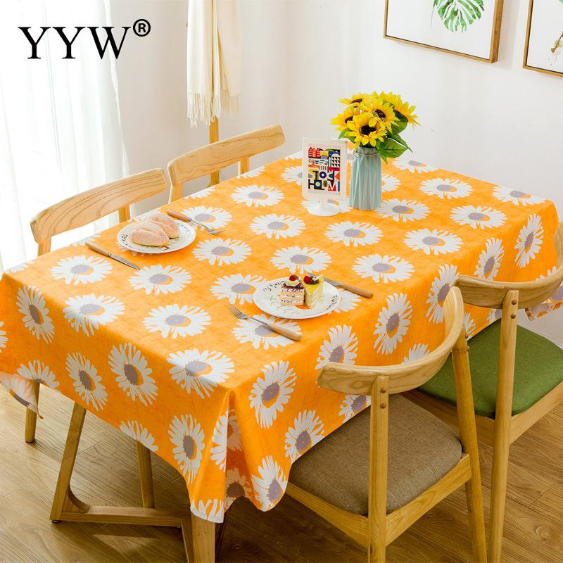 Daisy Rural Tablecloth Table Cover Picnic Oil-Proof Table Cloth Cotton Fabric Toalha De Mesa Obrus Rectangular Tablecloths Decor