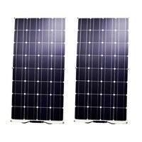 RG 100W Semi Flexible Solar Panel Mono celda para RV barco yate coche caravana cargador