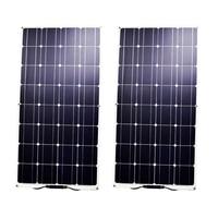 RG 100W Semi Flexible Solar Panel Mono Cell For RV Boat Yacht Car Caravan Charger