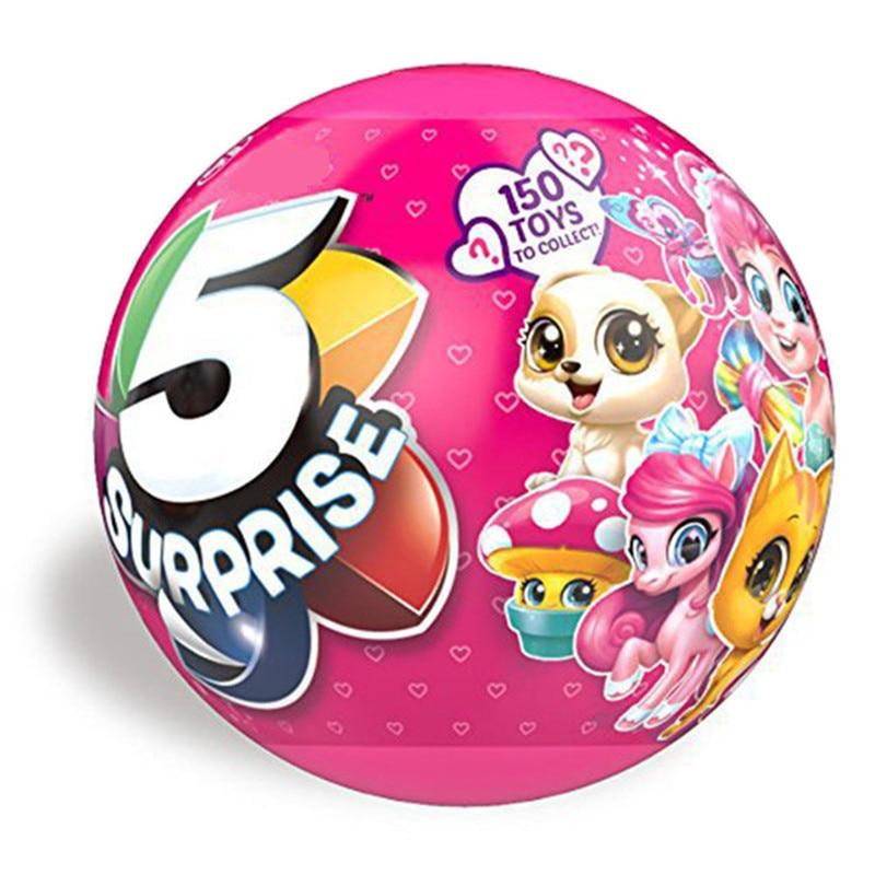 1Pcs 5 Petals Creative Dolls Surprizamals Ball Design Multi-layer Funny Gadgets Novelty Surprise Blind Box 5 Toys Kids Gift