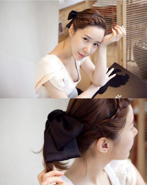 duplo bowknot ferramentas estilo do cabelo acessórios ha1374