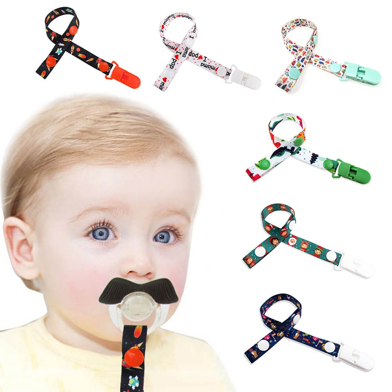 Baby Pacifier Clip Chain For Soothers Toys Ribbon Chupetas Funny Dummy Holder Leash Strap Nipple Holder Infant Feeding