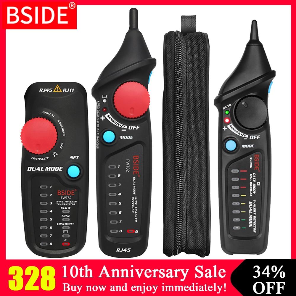 Portable Network Ethernet Cable Tester Tracker BSIDE FWT11/81/82 RJ45 RJ11 RJ12 CAT5 CAT5e LAN Repair Tool Kit