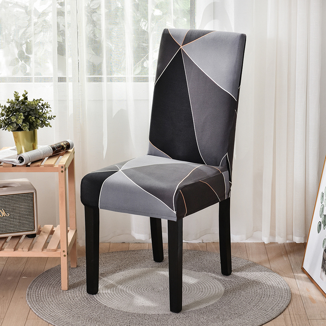 Elastic Fabric Printed Chair Cover 6