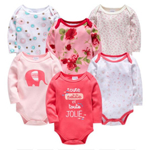 Kavkas New Baby Girls Bodysuit Roupas Bebe De 6PCS 3 PCS 100% Cotton Baby Boy Girl Clothes 0-3 months Newborn body bebe Clothing стоимость