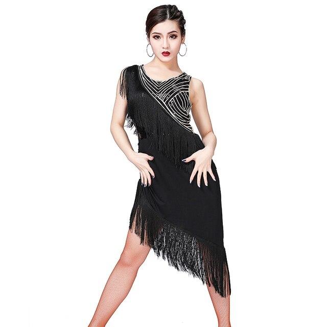 ชุดเต้นรำละติน 2019 ใหม่ผู้หญิงเลื่อมพู่เครื่องแต่งกายผู้หญิงเซ็กซี่บอลรูม/TANGO/Cha Cha การแข่งขันชุด