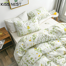 European Flower Style Bedding Sets 3 Pieces,1 Duvet Cover 2 Pillowcases,Queen King Single Double Twin Full Size