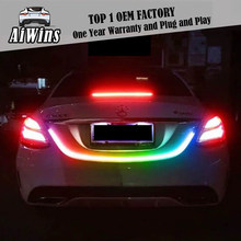 Car tail decoration LED accessories Light Dynamic Streamer Floating LED Strip 12v Auto Trunk Tail Brake Running Turn Signal Lamp(China)