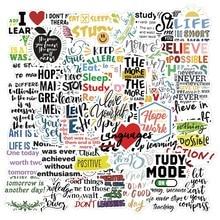 10 / 50 frases inspiradoras adesivos vida citações à prova ddiy água diy estudo portátil duro scrapbook graffiti adesivos auto adesivo