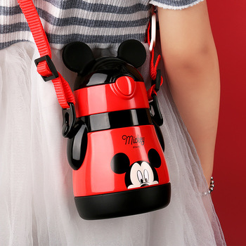 Disney kids thermos cup with sippy cup baby learn to drink cup anti-breakable cup kindergarten kids baby water cup 1