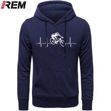 Sıcak satış moda döngüleri kalp atışı standart Unisex Hoodies, tişörtü