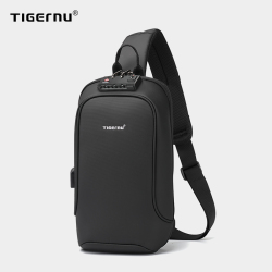 Tigernu New Men Bag USB Charging Chest Bag RFID High Quality Splashproof Chest Bag Outdoor Male Bags 9.7inch Ipad Messenger Bags