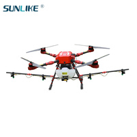 S412 agricultural drone 4 axis pesticide spraying drone GPS positioning China agricultural spraying UAV