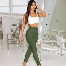 Летние женские штаны сексуальные на завязках элегантные длинные