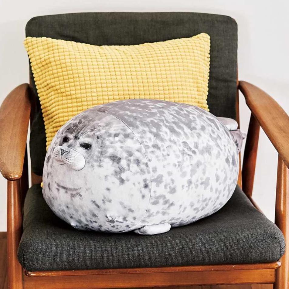 blob the angry seal pillow chubby plush seal pillow stuffed osaka aquarium yuki stuffed animal toy gifts for kids girls