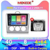 MEKEDE M400 Android 10 For Ford Focus 2 Mk 2 2004 2006 2008 2010 2011 Car Radio Multimedia Video Player Navigation GPS No 2din