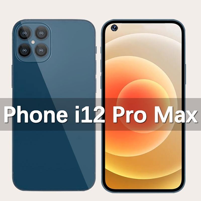 Телефон i12 Pro Max смартфонов 7,2 дюймов глобальная версия Dual SIM 5000 мА/ч, Andriod10 Snapdragon888 32MP 12 ГБ 512 Встроенная память полный Экран