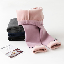 Girls Leggings Winter Korean Style Thick Pants Bow Children Trousers Little Girls Warm Leggings For Girls Kids Long Pants 3-10 Y стоимость