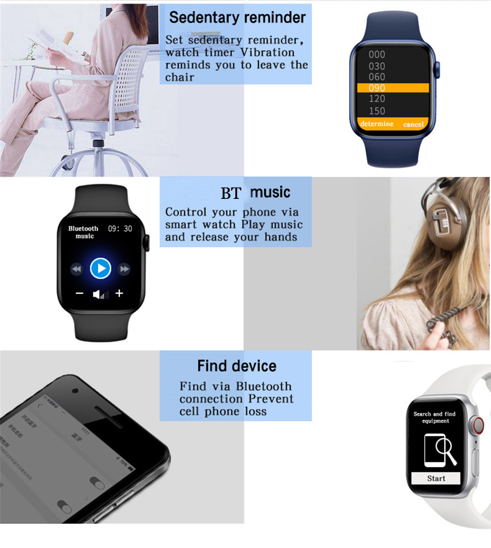 H2a365892b10843238963c44f2c98b092B 2021 HW22pro Smart Watch Men Women Split Screen Display Original Smartwatch Body Temperature Monitor BT Call For Android IOS IWO