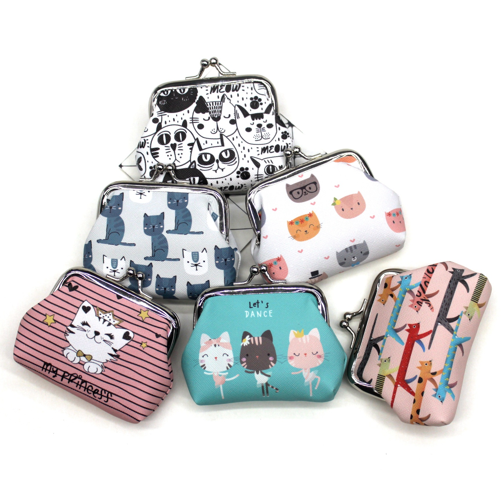 Cartoon Cat Coin Purses Women Mini Wallets Kids Clutch Money Bags Female Pouch Hasp Change Purse Cute Girls Zero Wallet Carteira