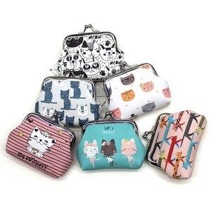 Cartoon Cat Coin Purses Women mini Wallets Kids clutch money Bags Female Pouch Hasp change purse Cute girls zero wallet Carteira