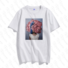 New Flower Girl T Shirt Women Vintage Tumblr Korean Style Aesthetic Harajuku Kawaii Short Sleeve Plu
