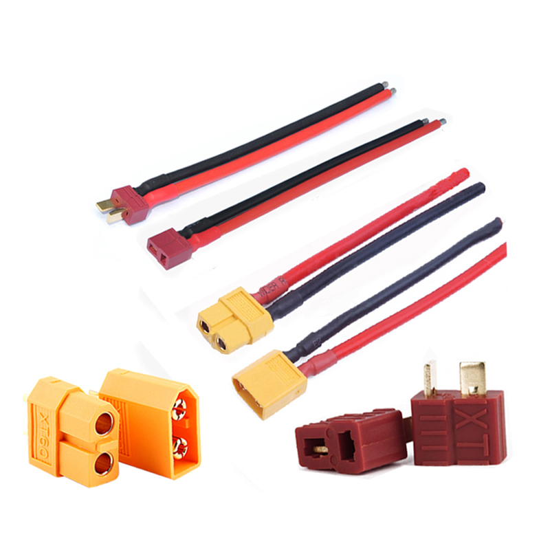 Woyisisi 2Pcs//Set T Plug Female//Male to Tamiya Male//Female Adapter Cable 14 AWG Wire RC Accessory