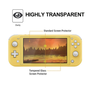 Tempered for Nintendo Switch Lite NS Glass Ultra Clear Full HD Screen Protective Film Surface Guard Console Protector Cover Skin