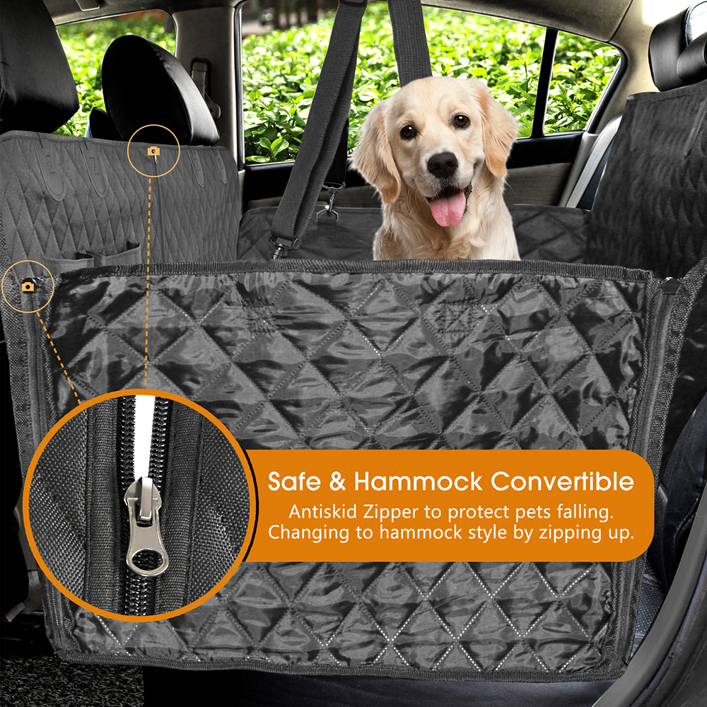 Image 4 - Dog Car Seat Cover Luxury Quilted Car Travel Pet Dog Carrier Car  Bench Seat Cover Waterproof Pet Hammock Mat Cushion ProtectorDog  Carriers