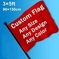 Custom Flag Banner Printed 3x5 FT 100D Polyester Sports Advertising Football Company Logo Decor Hanging Dropship Free Shipping