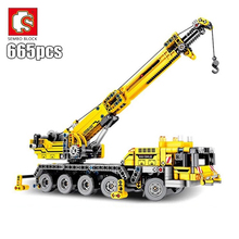 SEMBO Fit Technic Mobile Crane Creator Expert Ideas Bricks Set 665pcs City Engineer Crab Building Blocks Toys Children Gift