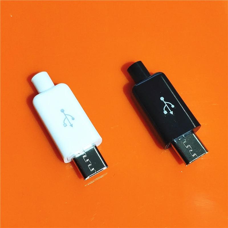 10 шт./лот YT2153Y Micro USB 4PIN штекер белый/черный сварочный кабель OTG интерфейс DIY данных Cbale Прямая поставка