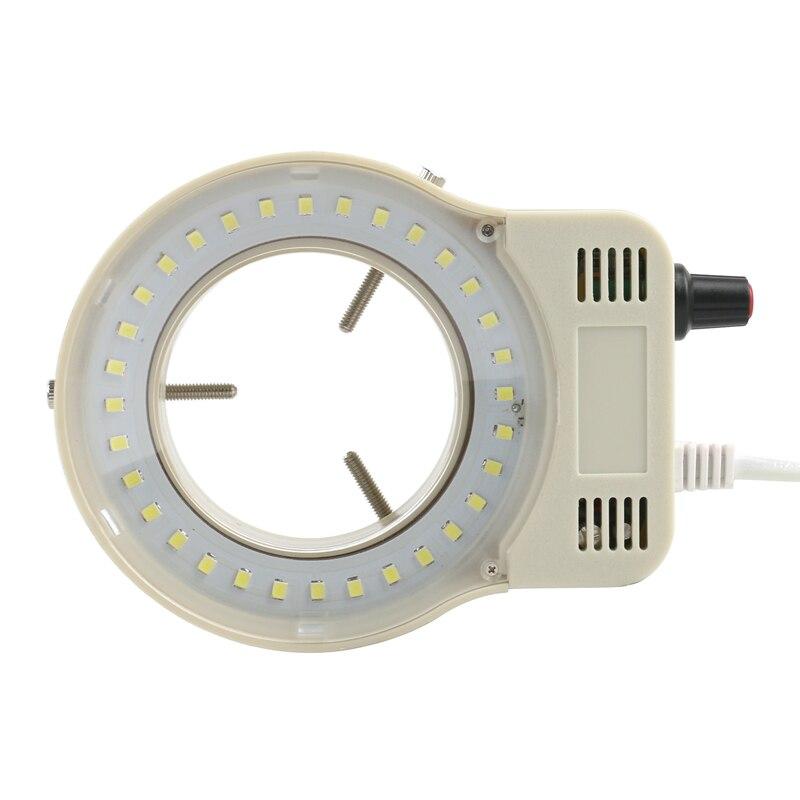 Adjustable SMD 32 LED Ring Light Illuminator Lamp 110V-240V  For Industrial Video Microscope C Mount Camera Stereo Microscope