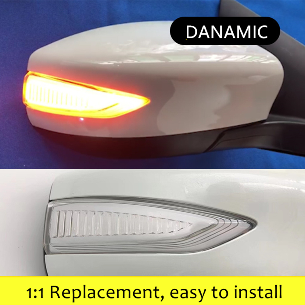 Replacement Passenger Side Mirror Cover with Signal Compatible with 13-18 Altima Sentra