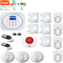 Yobang Security WIFI GSM GPRS Wireless TUYA APP Remote Control Smart Home Security Alarm System Smoke Fire Alarm Sensor Support ALEXA Google Home(China)