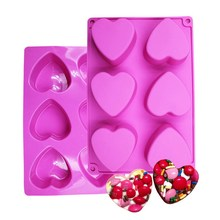 Silicone Soap Mold Heart Shape Chocolate Candy Mould Handmade Craft Pudding Cake Baking Tools цена и фото