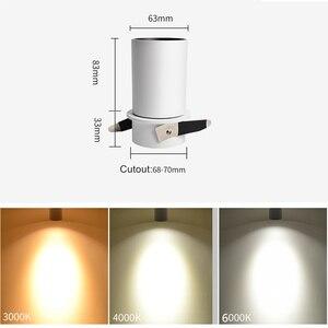 Image 5 - [DBF] Складной СВЕТОДИОДНЫЙ Потолочный встраиваемый светильник, 7 Вт, 12 Вт, светодиодные точечные светильники для гостиной, фоновой стены, коридора, потолочный светильник COB