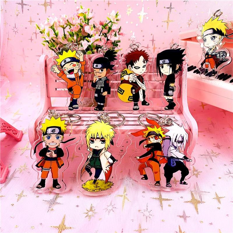 New Naruto Acrylic Keychain Naruto Gaara Sasuke Madara Pendants Keyring Cosplay Surrounding Gift Llavero Chaveiro Gifts For Men