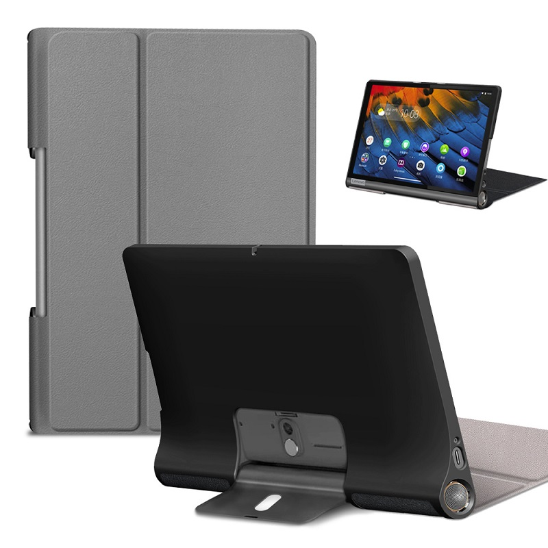Ultra Slim Case for New <font><b>Lenovo</b></font> Yoga Tab5 YT-<font><b>X705F</b></font> Tablet Cover for 2019 <font><b>Lenovo</b></font> Yoga Tab 5 X705 PU Leather Protective Case Skin image