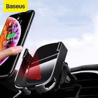 Baseus 15W Drahtlose Auto Ladegerät Auto Air Vent Halterung Telefon Halter Infrarot Sensor Qi Drahtlose Ladegerät Schnelle Lade Für iPhone 12