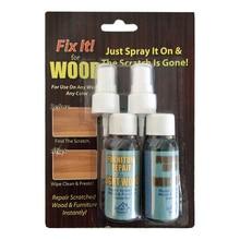 2 шт Дерево для удаления царапин потертости отверстия ремонт спрей Fix краска для деревянного пола двери шкафы мебель жидкость ремонт спрей