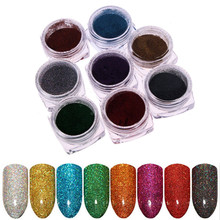 1 Box Women Lady Holographic Nail Glitter Laser Power Manicure Art Chrome Dipping Powders Decorations
