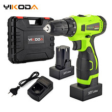 Cordless-Drill Power-Driver Lithium-Battery YIKODA Rechargeable-Tools DIY 25V Household