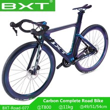 BXT rower szosowy 700C węgla wyścigi rowerów T800 rama karbonowa widelec 2*11S hamulec tarczowy bicicleta ultralekki rower szosowy Chameleon tanie tanio Unisex Ze stopu aluminium ze stopu aluminium Z włókna węglowego 145-193 cm 11 kg 1 6mm Podwójne hamulce tarczowe 13 kg