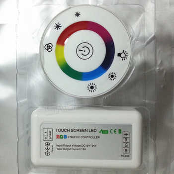 LED Touch Round RGB Controller DC12V-DC24V 18A 7 Keys RF Remote controller for 3528 2835 5050 LED strip lights