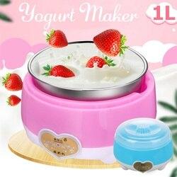 15W 220V Yoghurt Maker 1L Automatische Yoghurt Machine Huishoudelijke Diy Yoghurt Gereedschap Keuken Apparaat Roestvrij Staal/Pp innerlijke