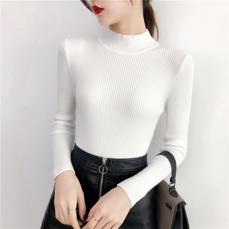 Купить осень/зима 2020 толстый свитер женский вязаный с длинным рукавом